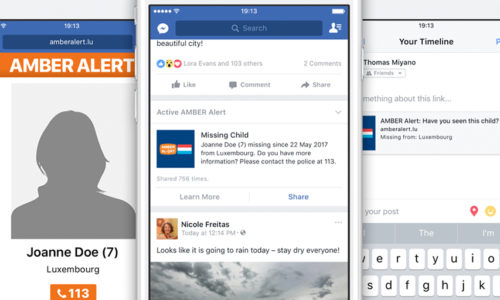 Facebook Teams Up With AMBER Alert Luxembourg For Missing Children